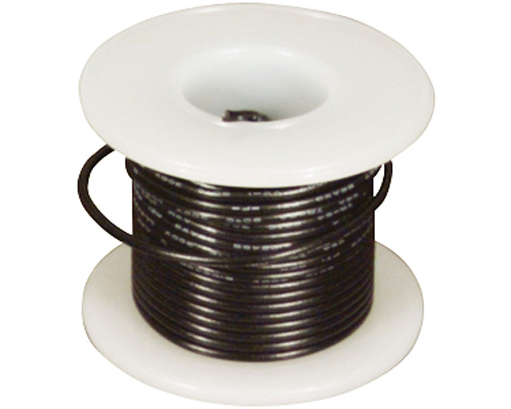 Wire - Solid Core - Black 22 AWG (25 ft.) 0