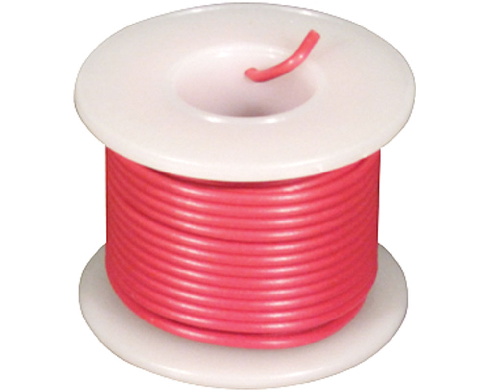 Wire - Solid Core - Red 22 AWG (25 ft.) 0