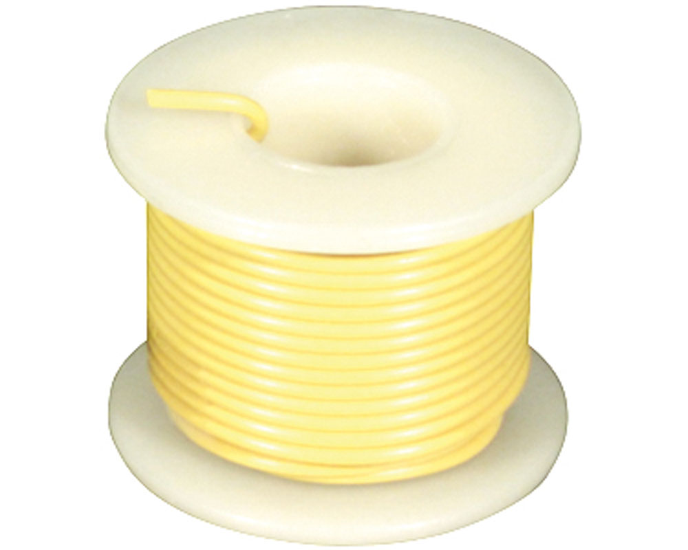 Wire - Solid Core - Yellow 22 AWG (25 ft.) 0