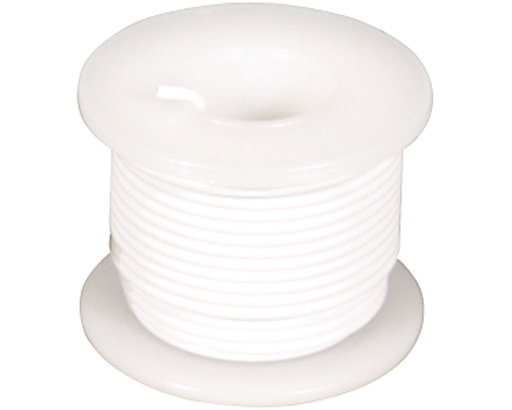Wire - Solid Core - White 22 AWG (25 ft.) 0