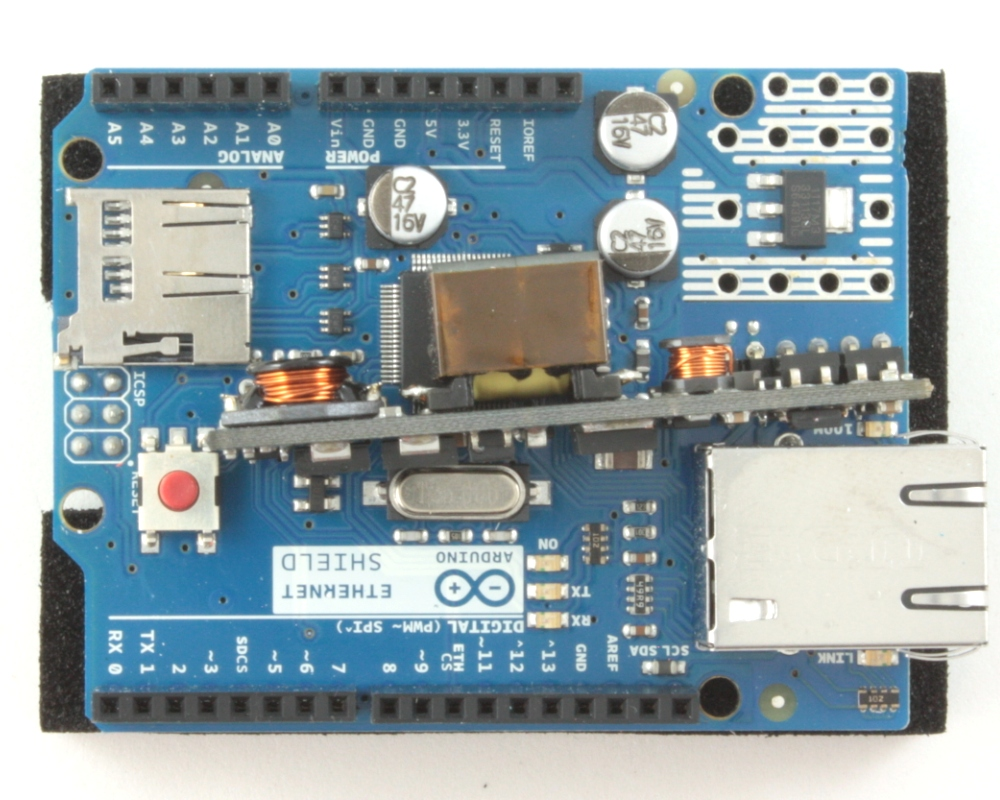 Arduino Ethernet Shield with PoE 0