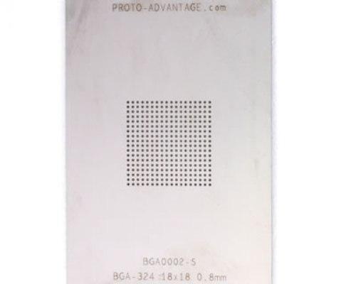 BGA-324 (0.8 mm pitch, 18 x 18 grid) Stainless Steel Stencil 0