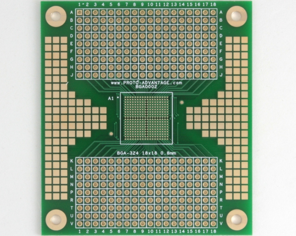 BGA-324 SMT Adapter (0.8 mm pitch, 18 x 18 grid) 0