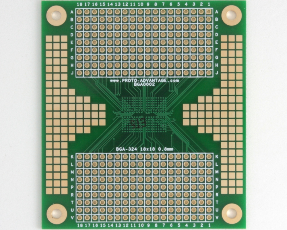 BGA-324 SMT Adapter (0.8 mm pitch, 18 x 18 grid) 1