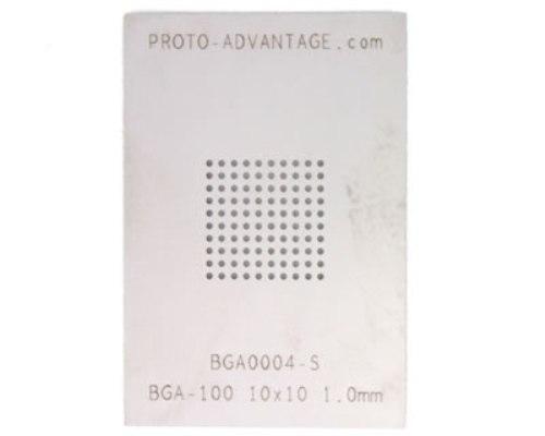 BGA-100 (1.0 mm pitch, 10 x 10 grid) Stainless Steel Stencil 0