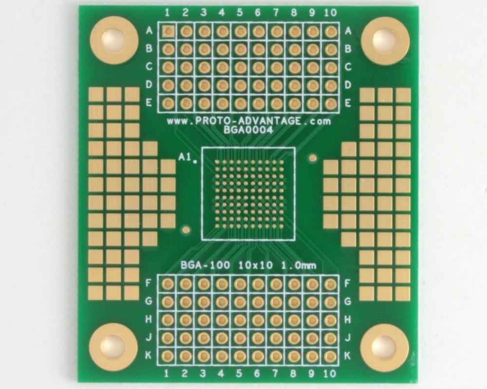BGA-100 SMT Adapter (1.0 mm pitch, 10 x 10 grid) 0