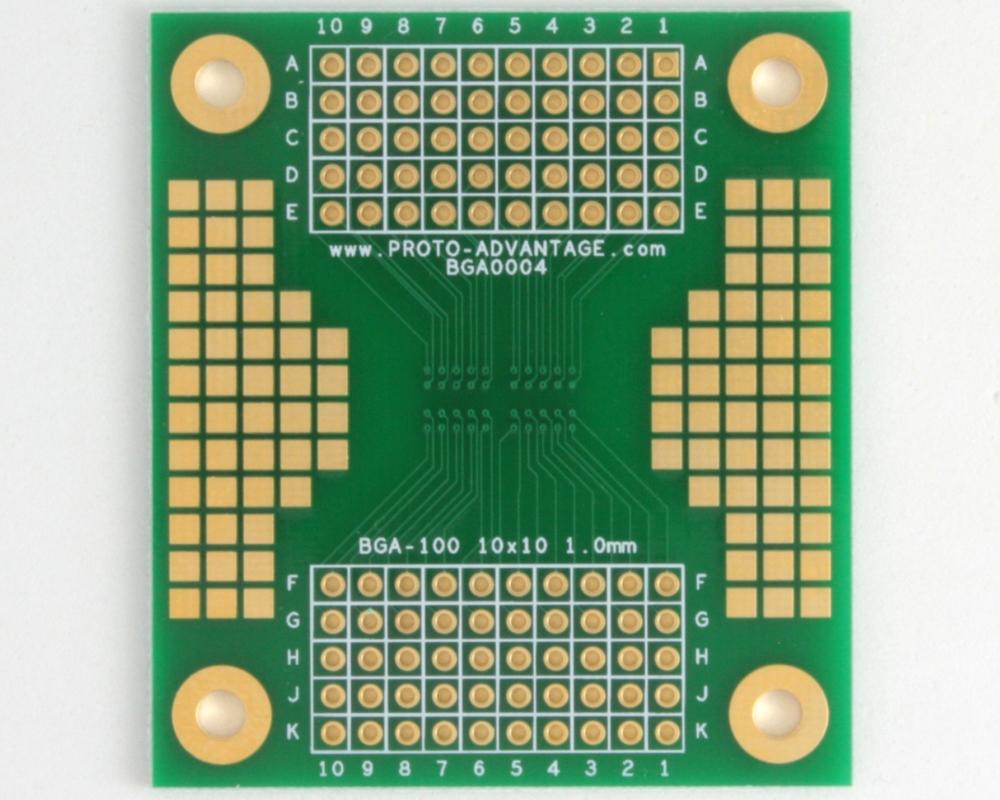 BGA-100 SMT Adapter (1.0 mm pitch, 10 x 10 grid) 1