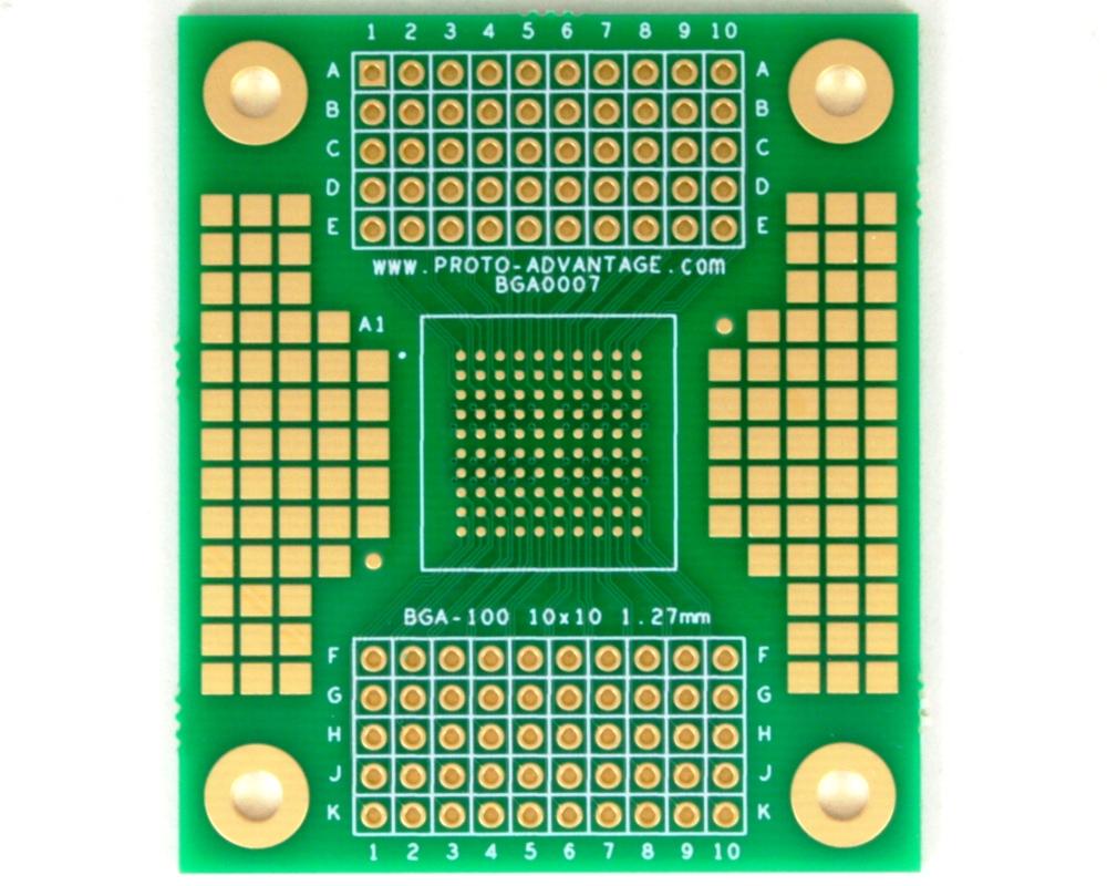 BGA-100 SMT Adapter (1.27 mm pitch, 10 x 10 grid) 0
