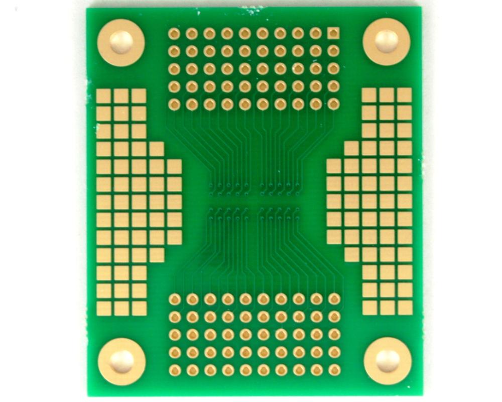 BGA-100 SMT Adapter (1.27 mm pitch, 10 x 10 grid) 1
