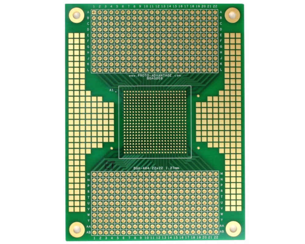 BGA-484 SMT Adapter (1.27 mm pitch, 22 x 22 grid) 0