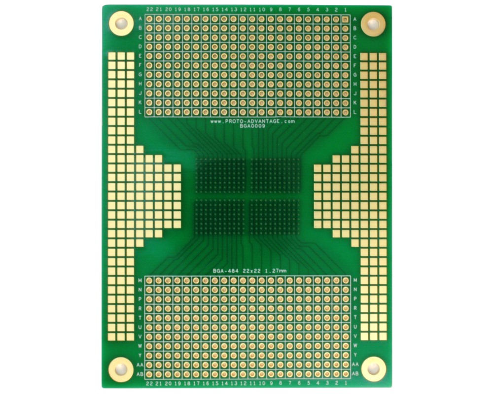 BGA-484 SMT Adapter (1.27 mm pitch, 22 x 22 grid) 1