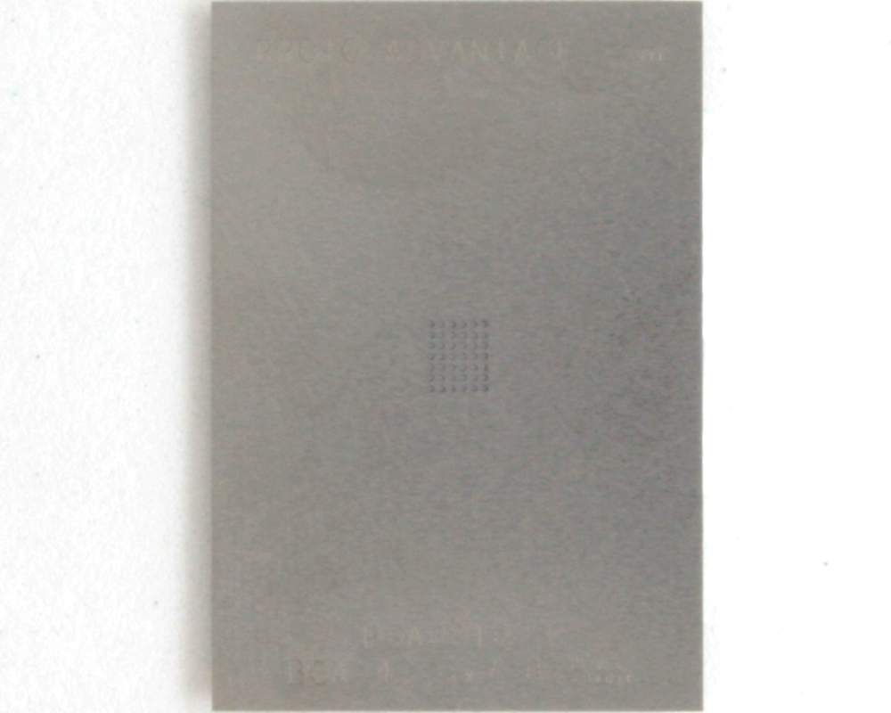 BGA-42 (0.5 mm pitch, 6 x 7 grid) Stainless Steel Stencil 0