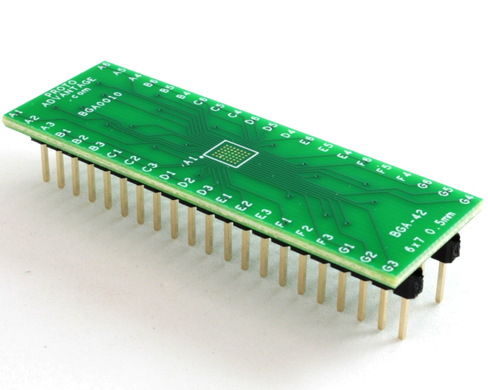 BGA-42 to DIP-42 SMT Adapter (0.5 mm pitch, 6 x 7 grid) 0
