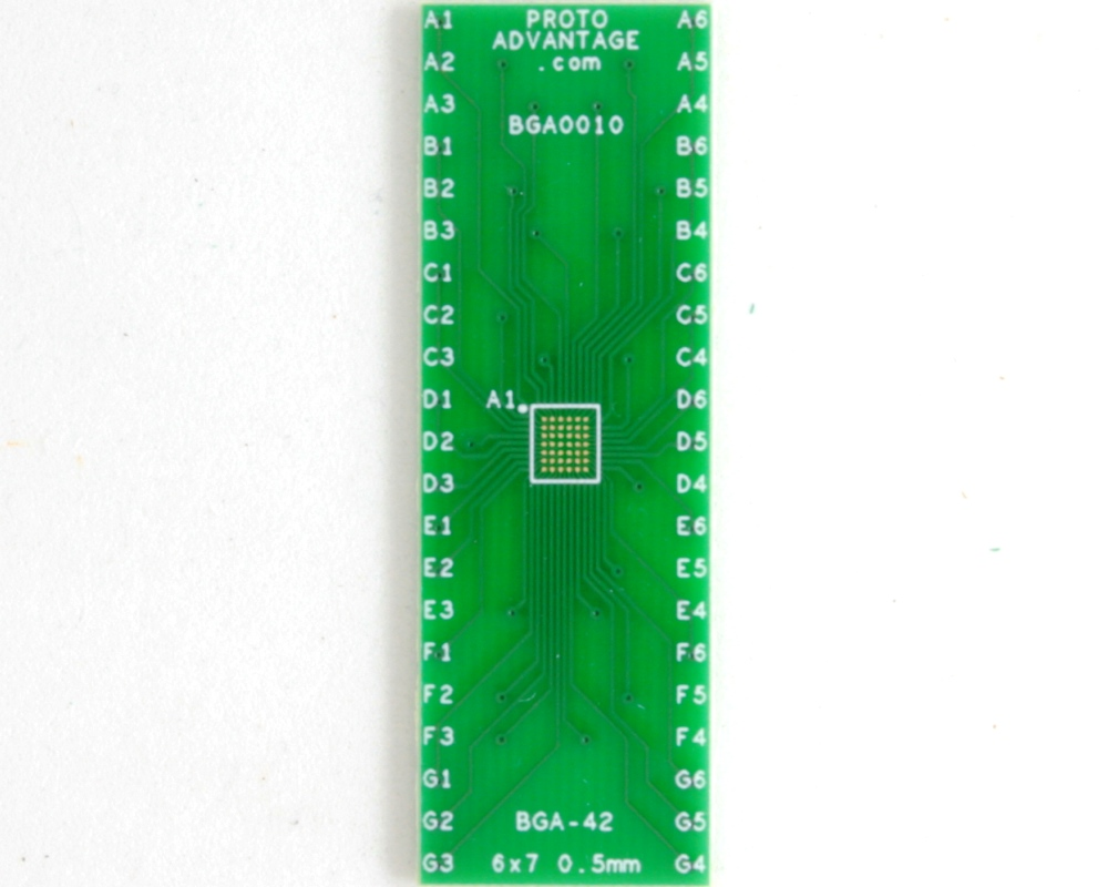 BGA-42 to DIP-42 SMT Adapter (0.5 mm pitch, 6 x 7 grid) 2