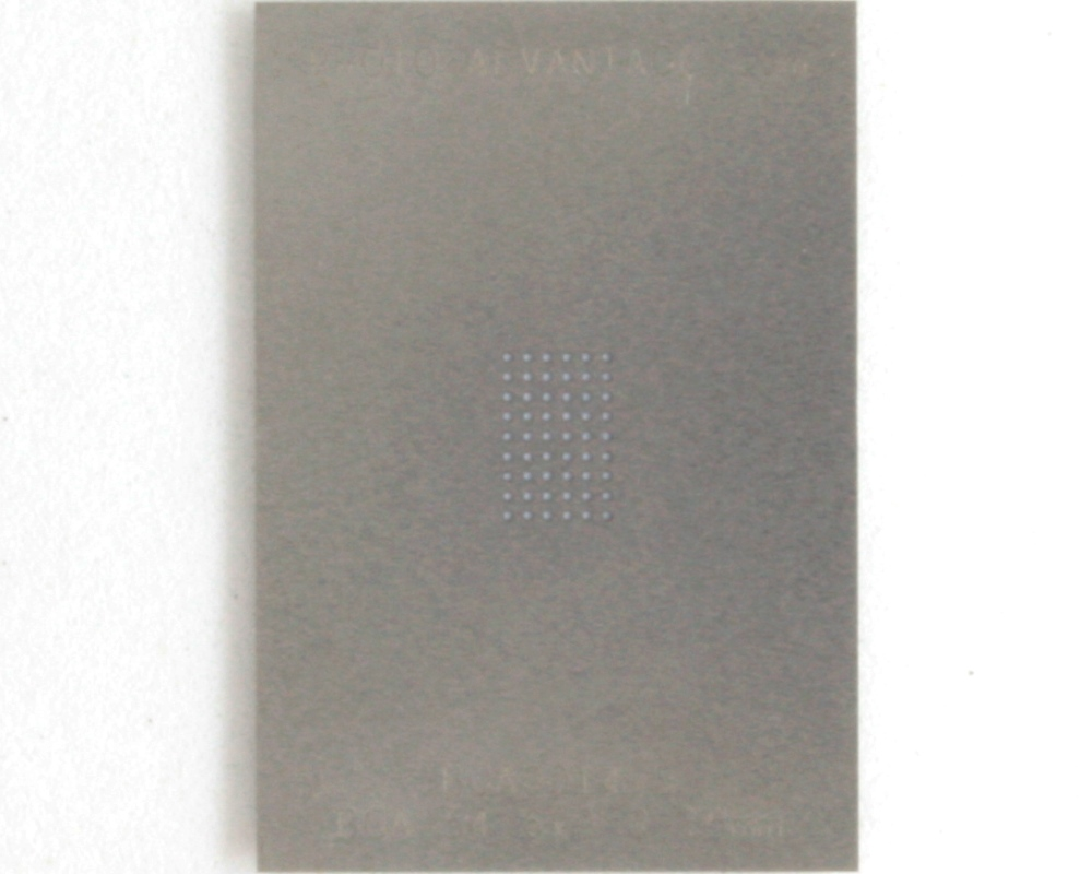 BGA-54 (0.75 mm pitch, 6 x 9 grid) Stainless Steel Stencil 0