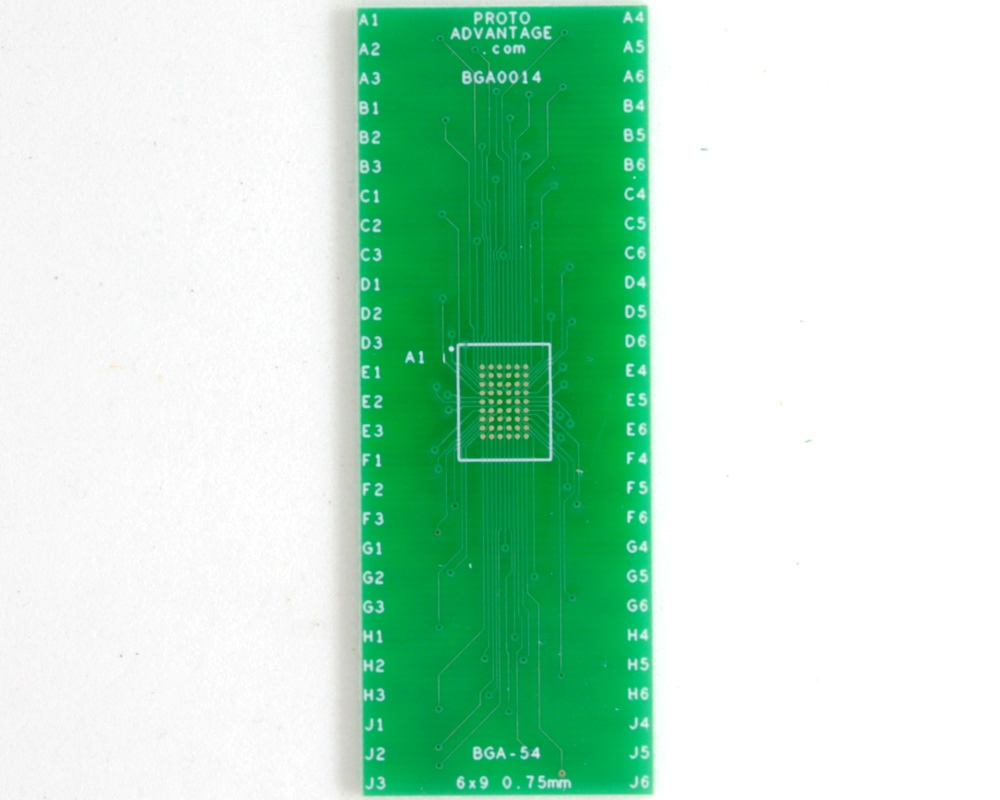 BGA-54 to DIP-54 SMT Adapter (0.75 mm pitch, 6 x 9 grid) 2
