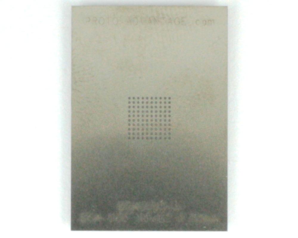 BGA-100 (0.65 mm pitch, 10 x 10 grid) Stainless Steel Stencil 0