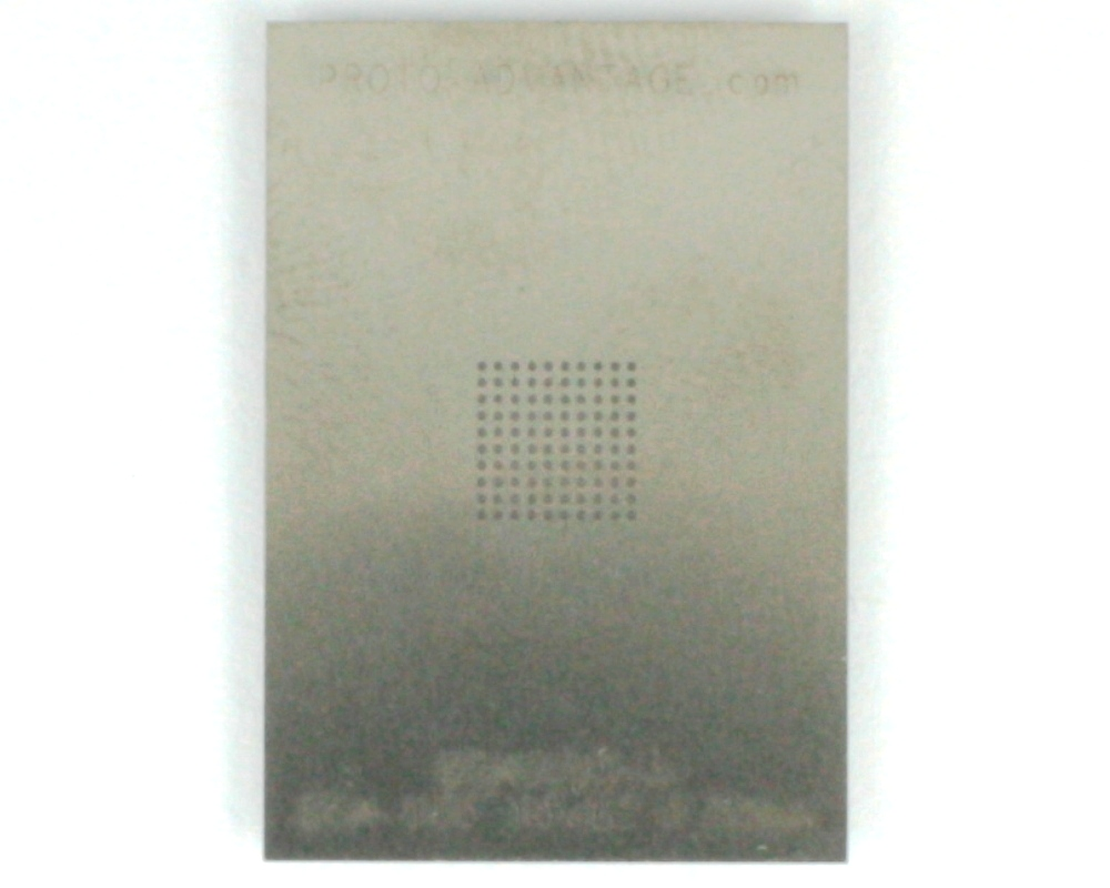 BGA-100 (0.65 mm pitch, 10 x 10 grid) Stainless Steel Stencil 0