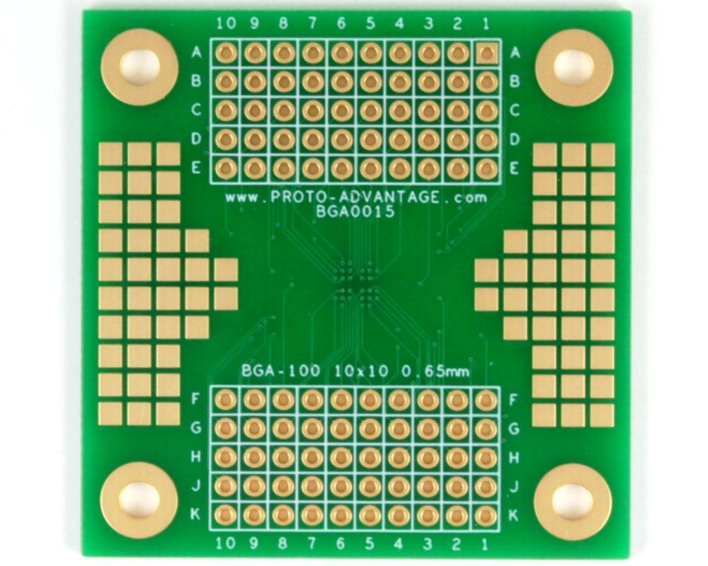 BGA-100 SMT Adapter (0.65 mm pitch, 10 x 10 grid) 1