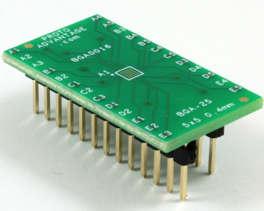 BGA-25 to DIP-25 SMT Adapter (0.4 mm pitch, 5 x 5 grid) 0
