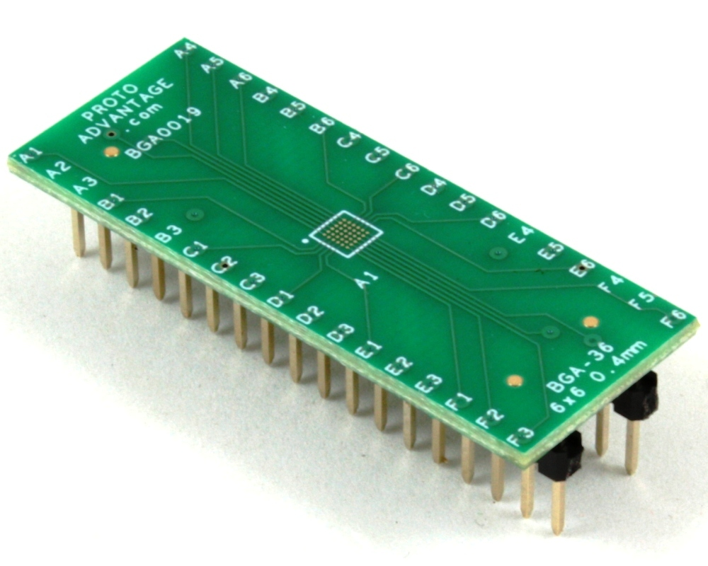BGA-36 to DIP-36 SMT Adapter (0.4 mm pitch, 6 x 6 grid) 0