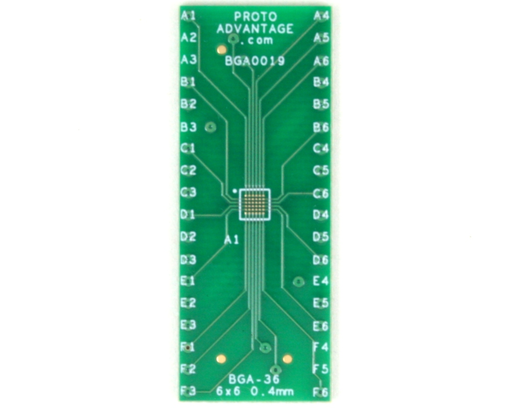 BGA-36 to DIP-36 SMT Adapter (0.4 mm pitch, 6 x 6 grid) 2
