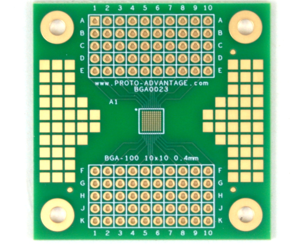 BGA-100 SMT Adapter (0.4 mm pitch, 10 x 10 grid) 0