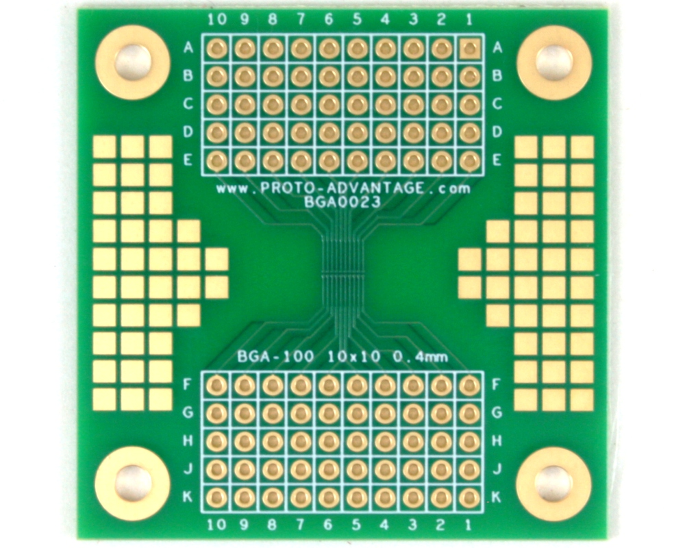 BGA-100 SMT Adapter (0.4 mm pitch, 10 x 10 grid) 1