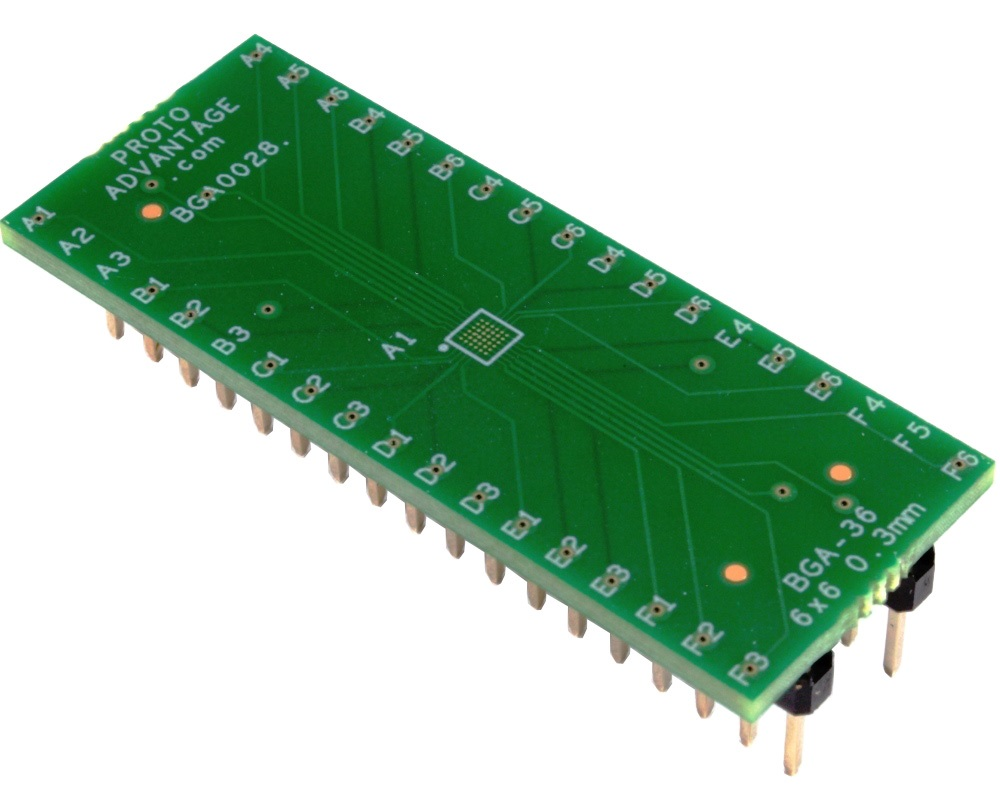BGA-36 to DIP-36 SMT Adapter (0.3mm pitch, 6 x 6 grid) 0
