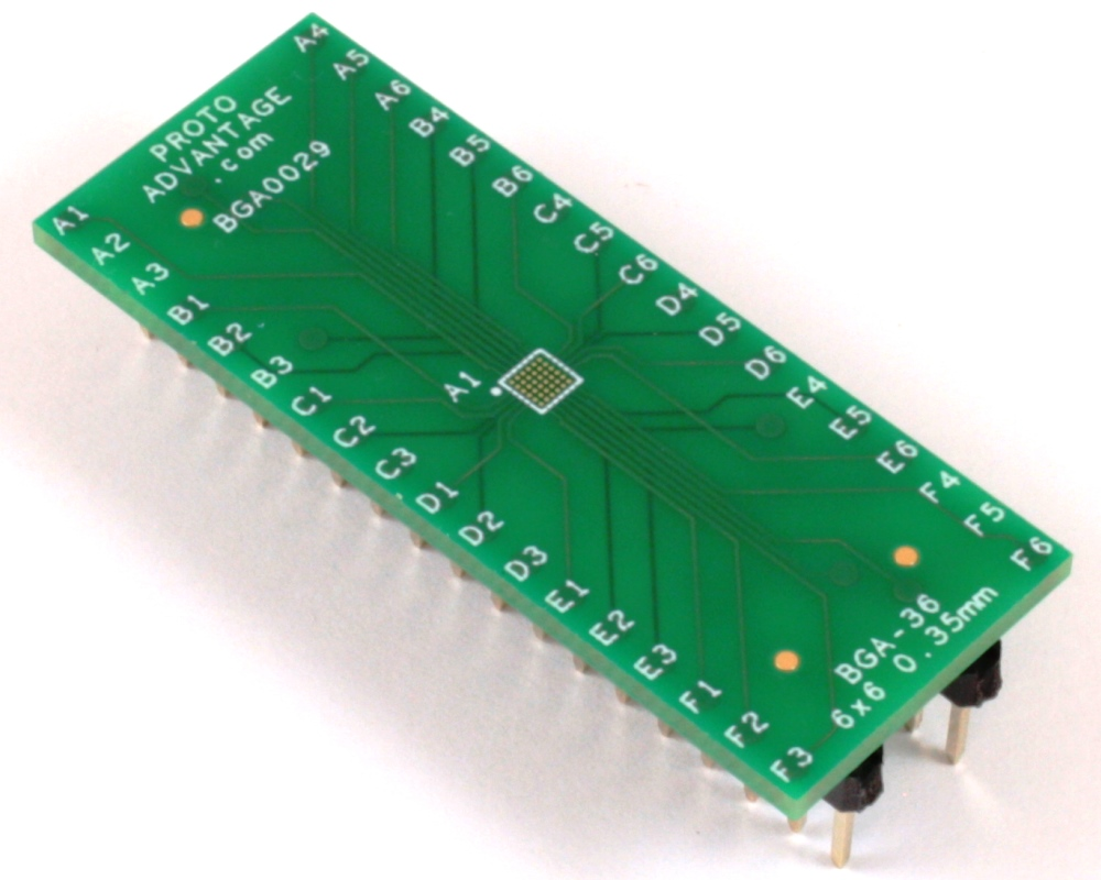 BGA-36 to DIP-36 SMT Adapter (0.35mm pitch, 6 x 6 grid) 0