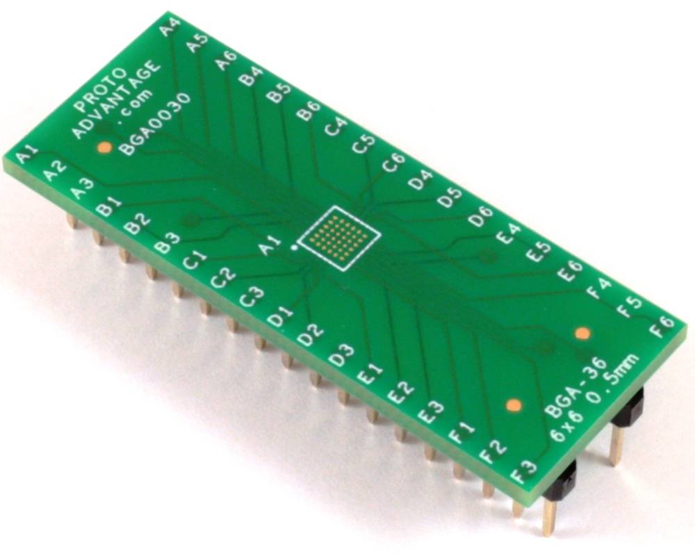 BGA-36 to DIP-36 SMT Adapter (0.5mm pitch, 6 x 6 grid) 0