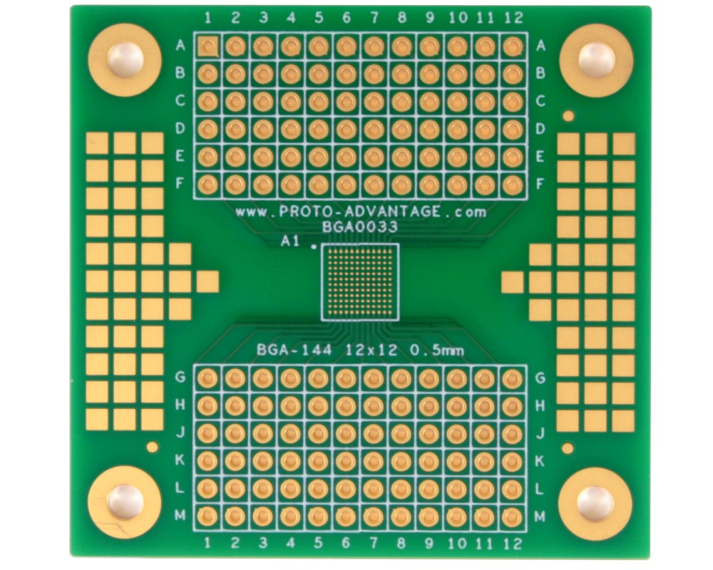 BGA-144 to PGA-144 SMT Adapter (0.5mm pitch, 12 x 12 grid) 0