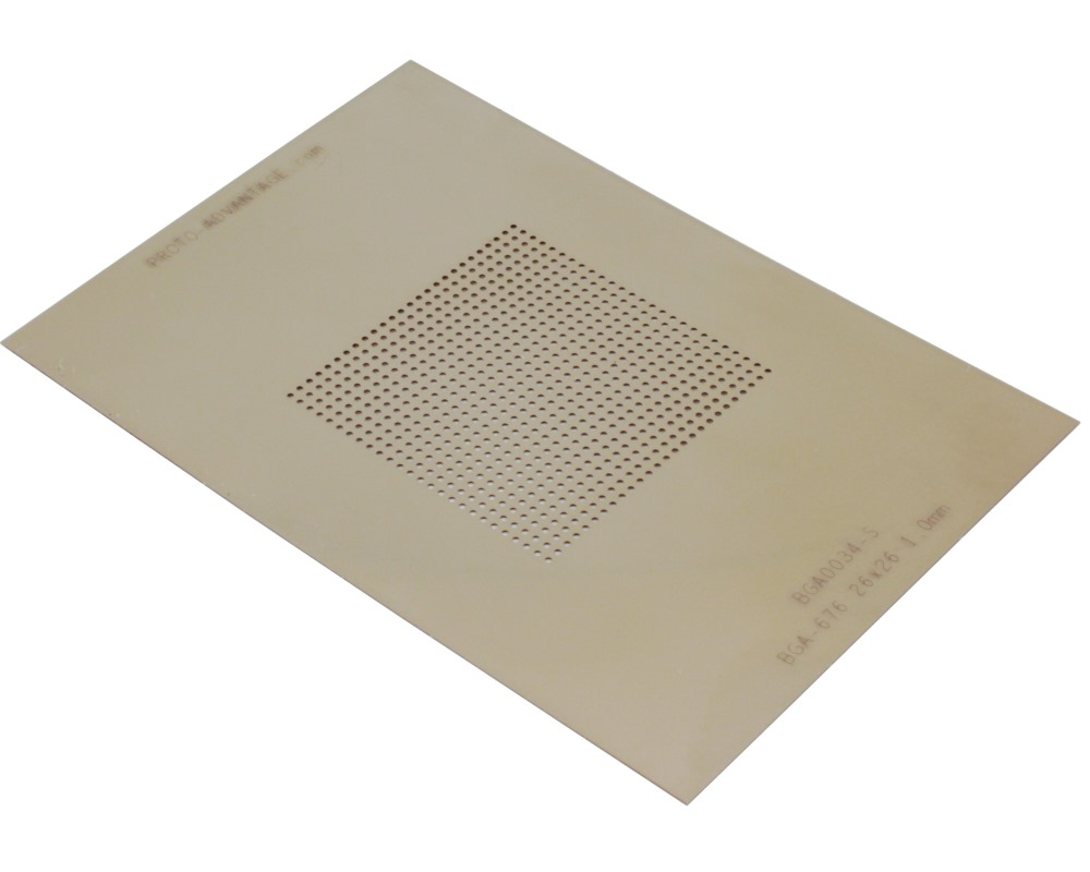 BGA-676 (1.0 mm pitch, 26 x 26 grid) Stainless Steel Stencil 0