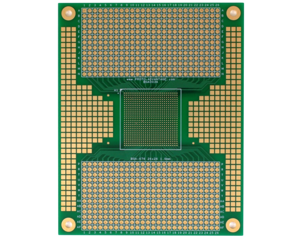 BGA-676 to PGA-676 SMT Adapter (1.0mm pitch, 26 x 26 grid) 0