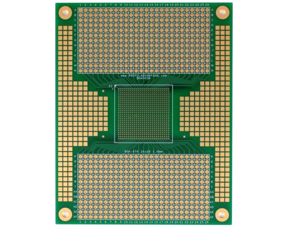 BGA-676 to PGA-676 SMT Adapter (1.0mm pitch, 26 x 26 grid) 0