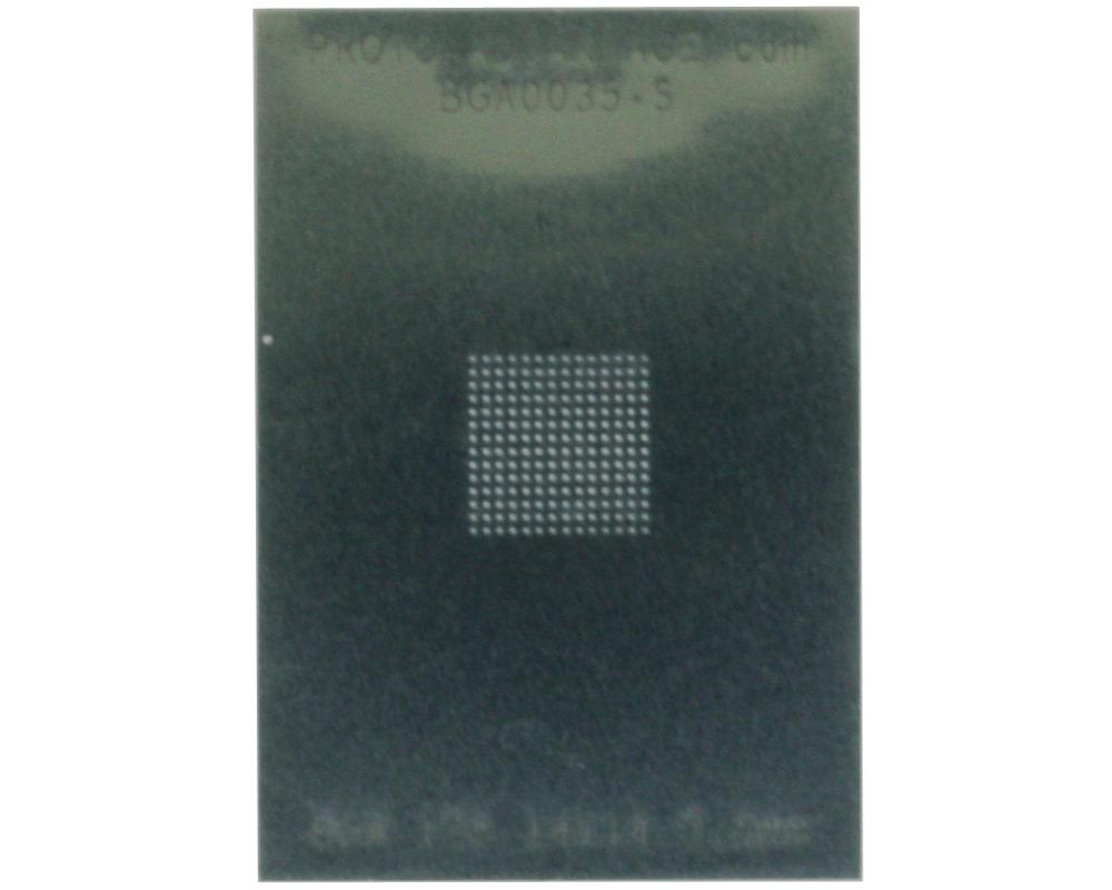BGA-196 (0.5 mm pitch, 14 x 14 grid) Stainless Steel Stencil 0