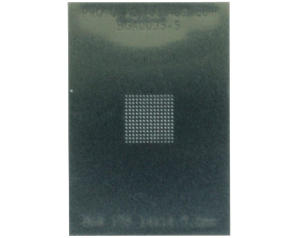 BGA-196 (0.5 mm pitch, 14 x 14 grid) Stainless Steel Stencil 0