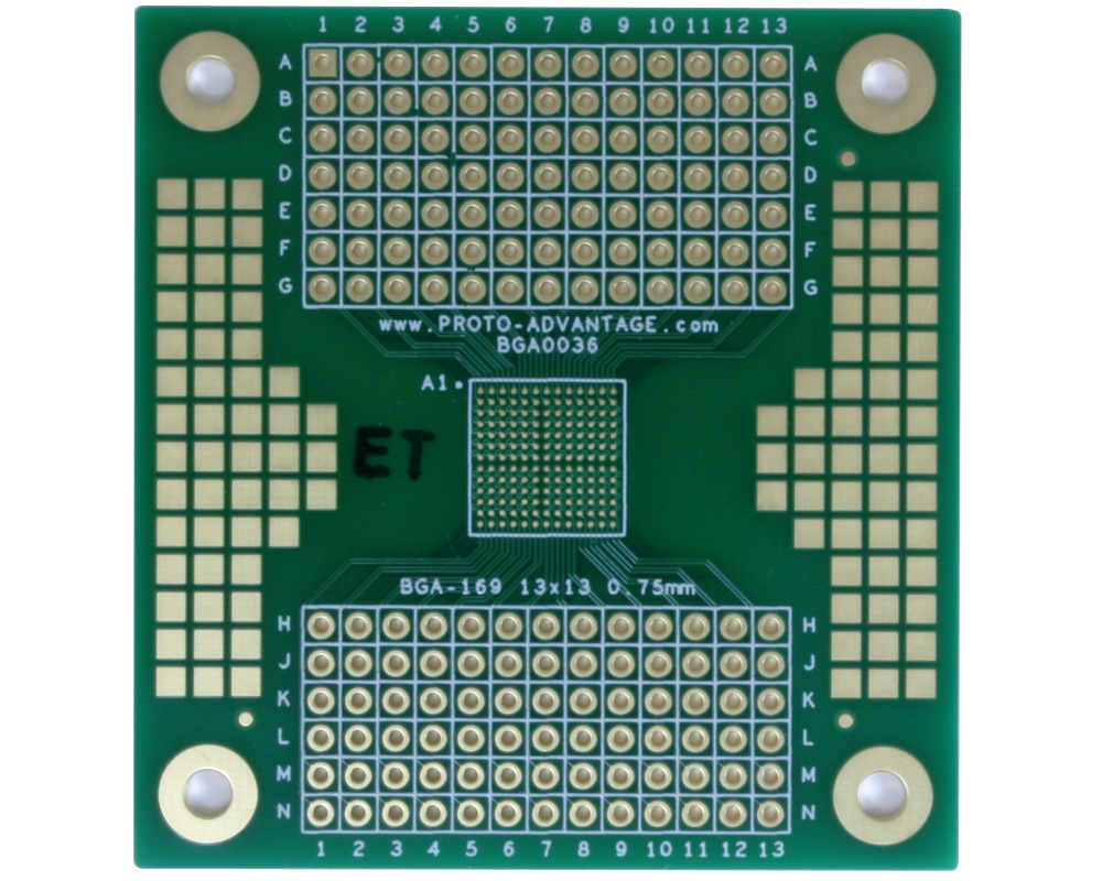 BGA-169 to PGA-169 SMT Adapter (0.75mm pitch, 13x13 grid) 0