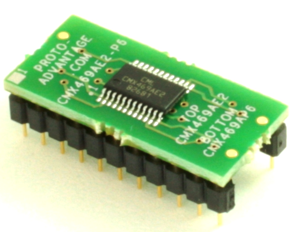 Interposer - Replaces CMX469AP6 DIP-22 with CMX469AE2 SSOP-24 0