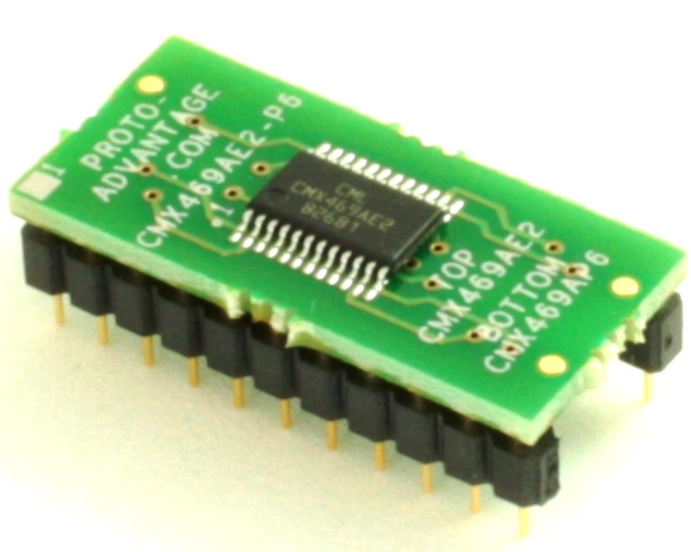 Interposer - Replaces CMX469AP6 DIP-22 with CMX469AE2 SSOP-24 0