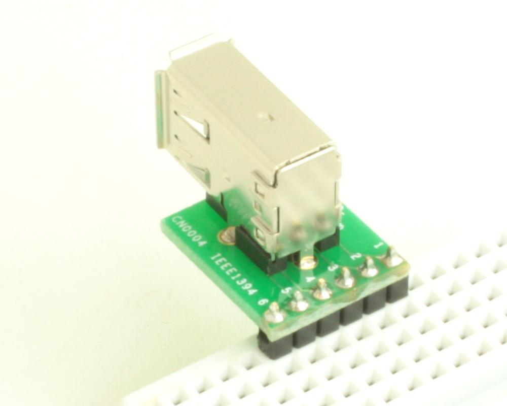Firewire (IEEE1394) 6 pin adapter board 1