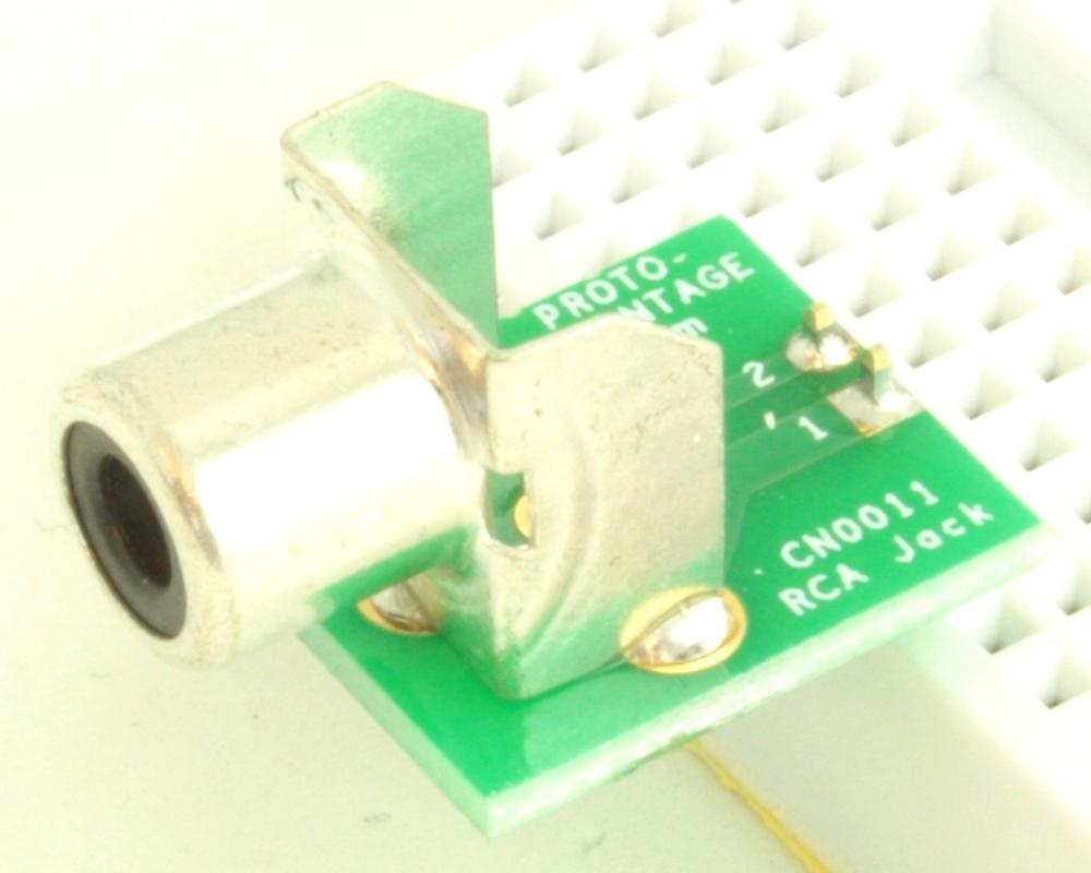 Phono (RCA) Jack 3.20mm ID, 9.00mm OD adapter board 0