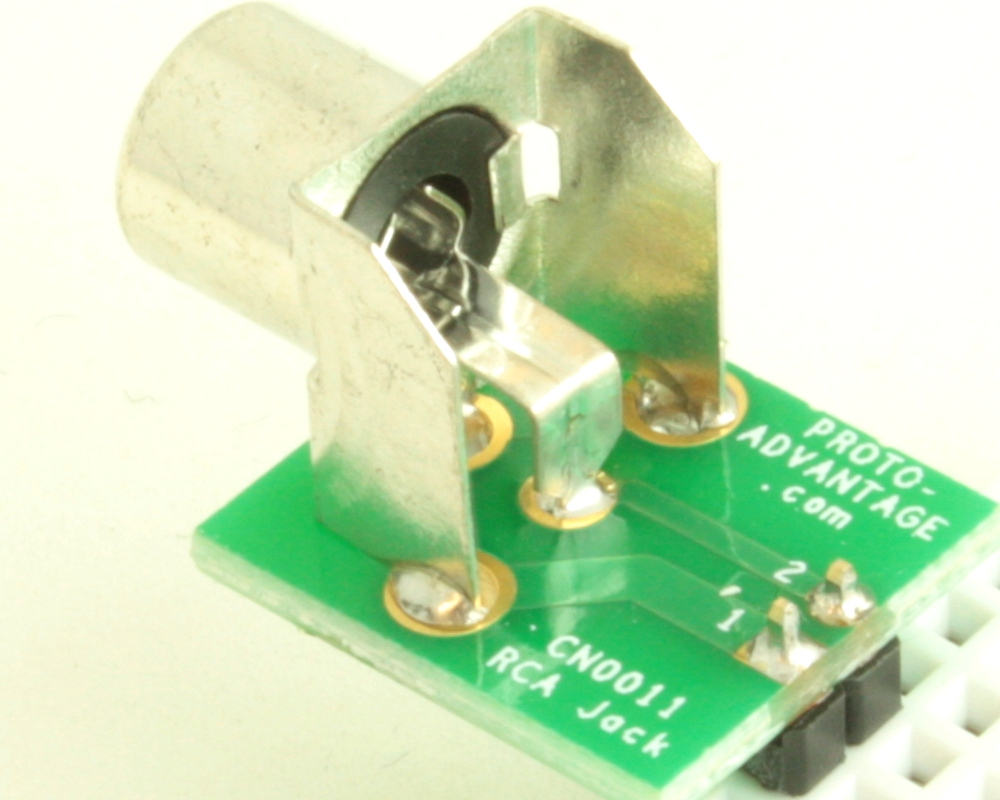 Phono (RCA) Jack 3.20mm ID, 9.00mm OD adapter board 1