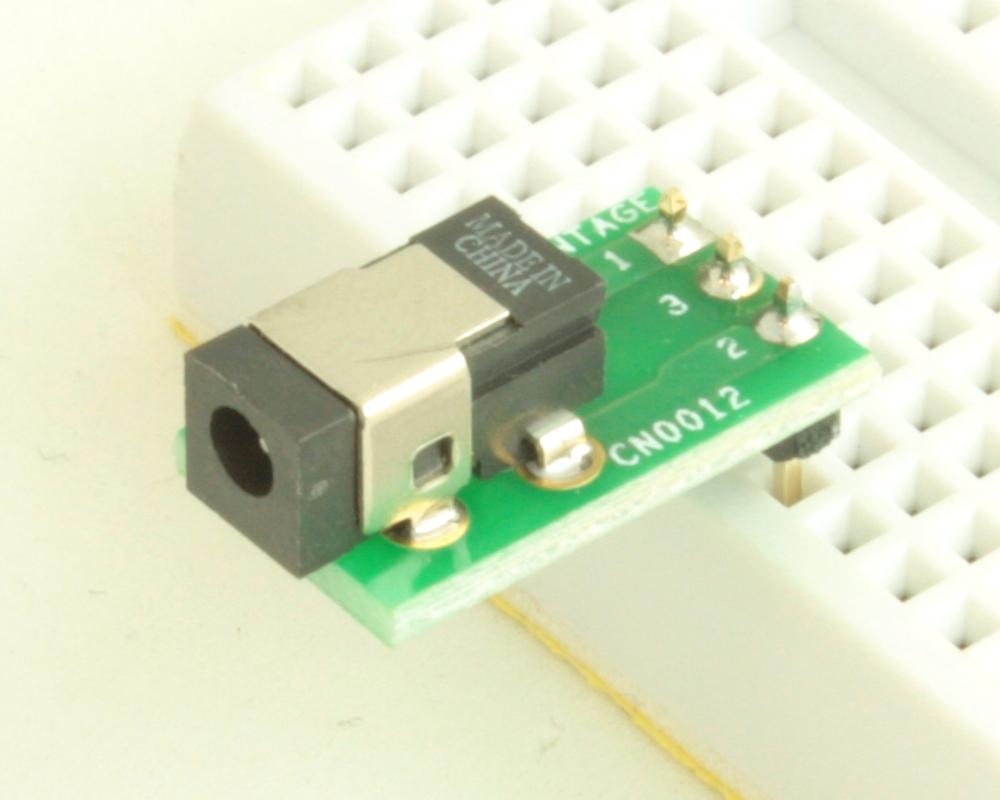 Jack 0.70mm ID, 2.35mm OD (EIAJ-1) adapter board 0