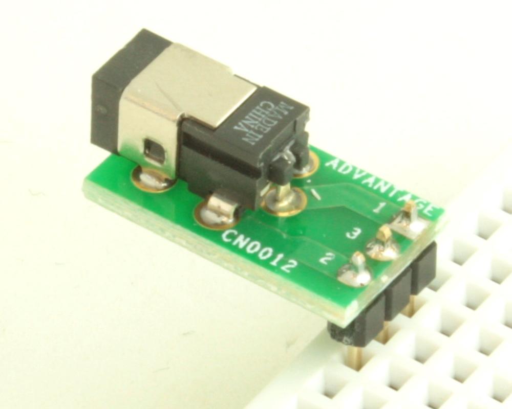 Jack 0.70mm ID, 2.35mm OD (EIAJ-1) adapter board 1
