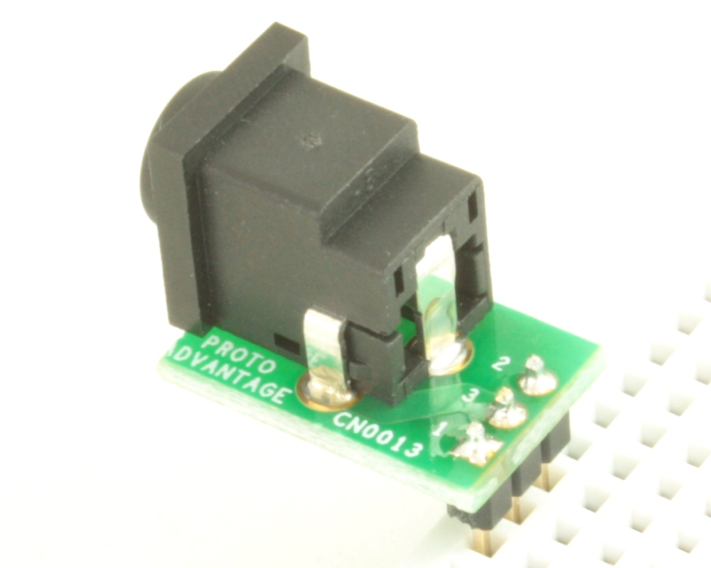Jack 1.0mm ID, 3.3mm ID, 5.5mm OD (EIAJ-4) adapter board 1