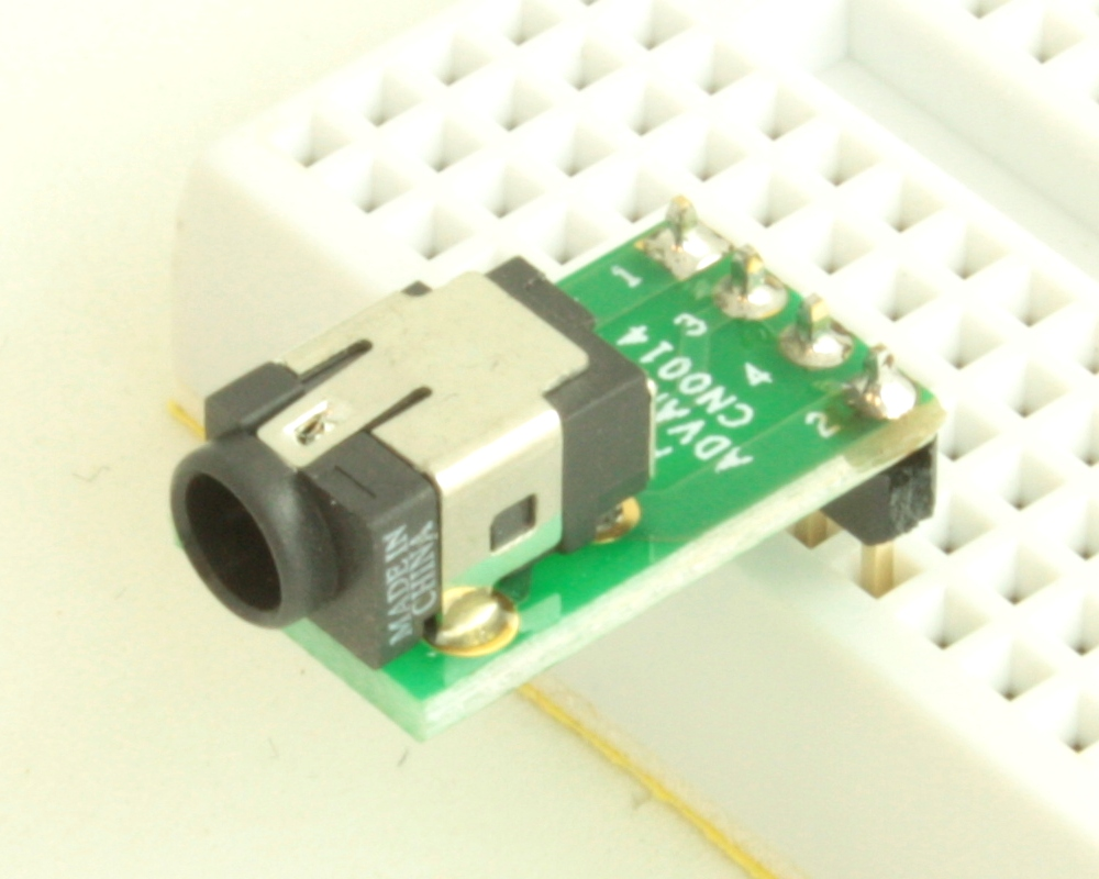 Jack 1.1mm ID, 3.0mm OD adapter board 0