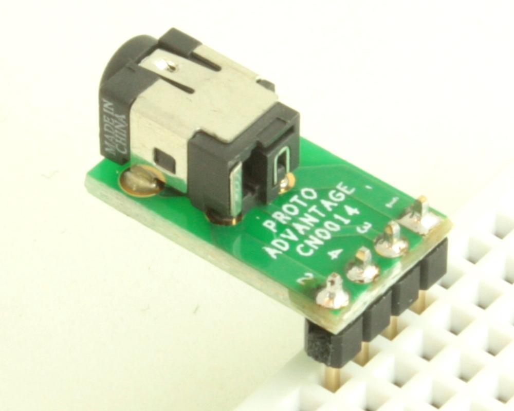Jack 1.1mm ID, 3.0mm OD adapter board 1