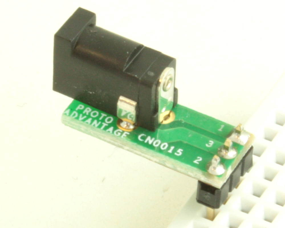 Jack 1.1mm ID, 3.5mm OD adapter board 1
