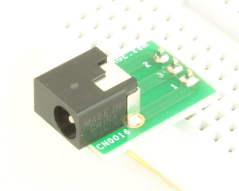 Jack 1.35mm ID, 3.5mm OD adapter board 0